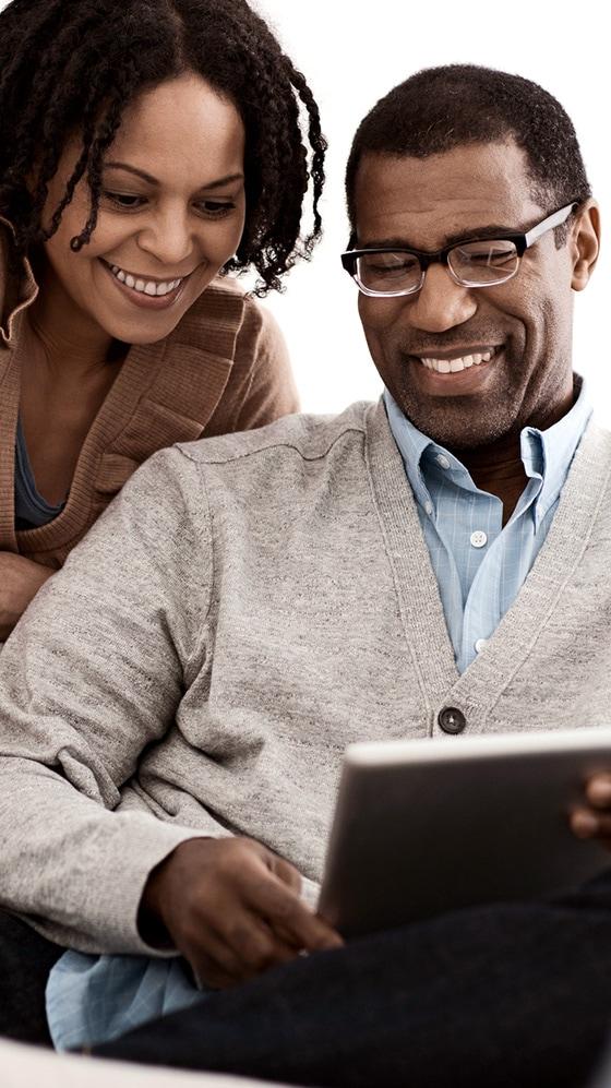 Couple enrolling online